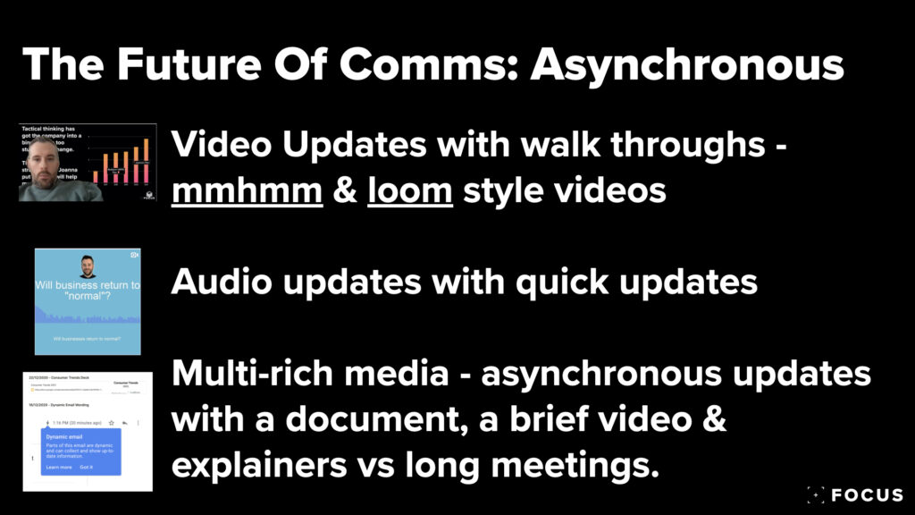 The Future Of Communications - Asynchronous