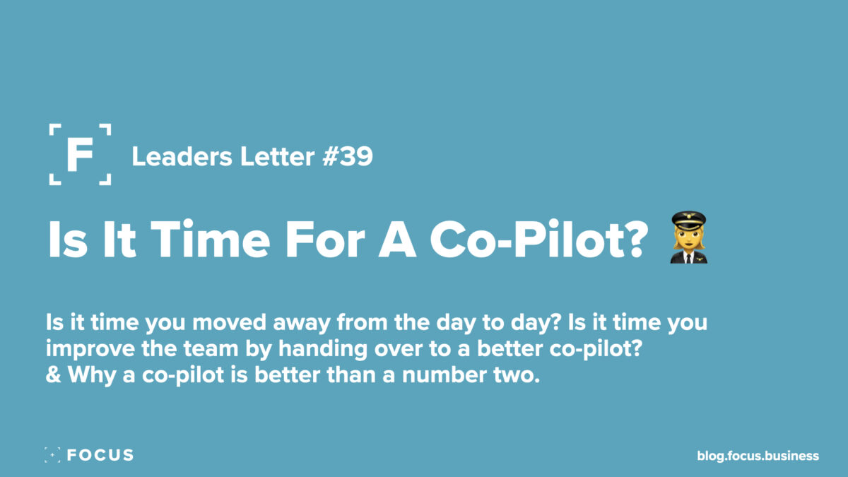 is it time for a co-pilot?