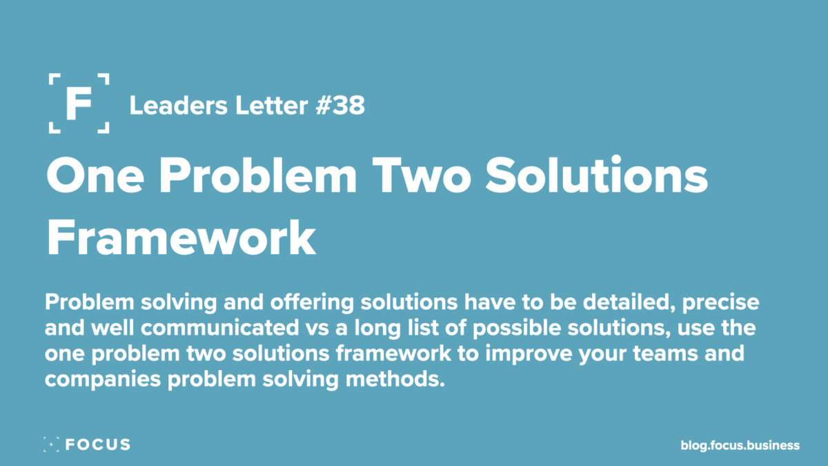 one problem two solutions framework