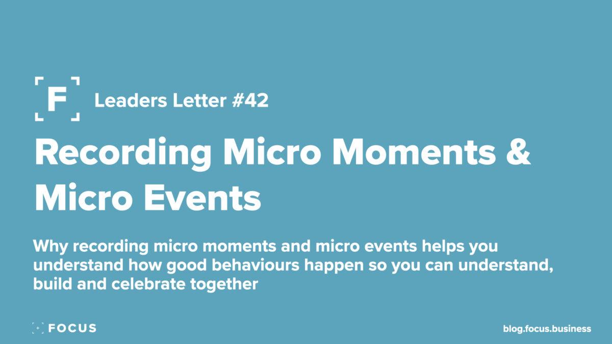 Recording Micro Moments & Micro Events