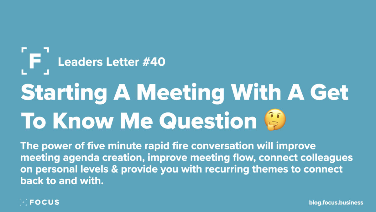 starting a meeting with get to know questions
