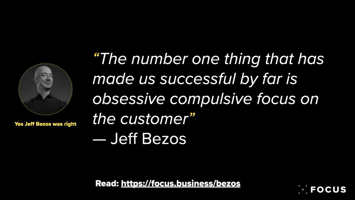 Jeff Bezos customer obsession