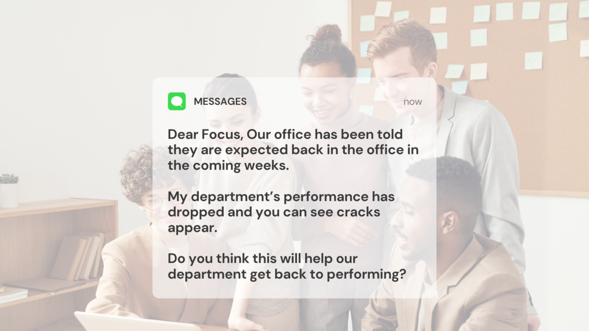 back to the office team performance issue