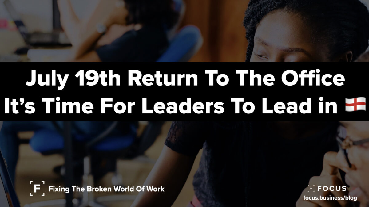 July 19th - Time For Leaders To Lead