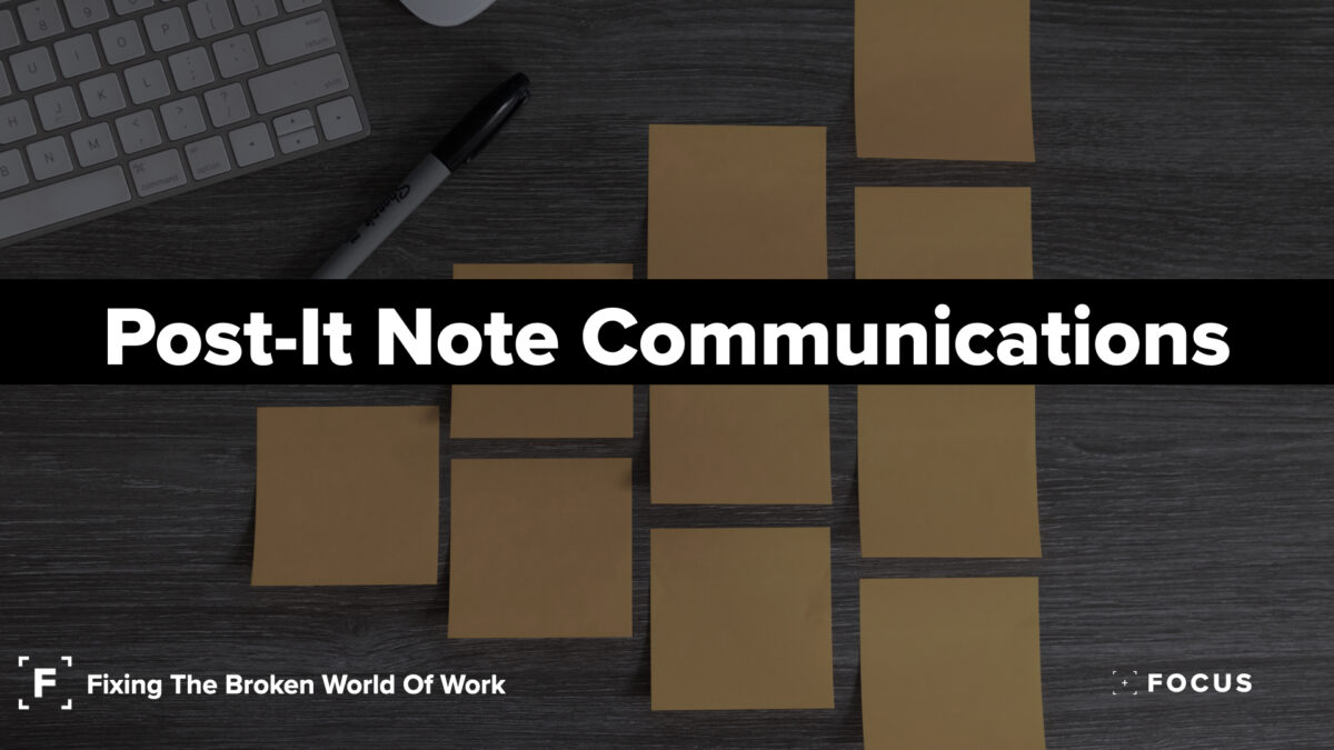 Post It Note Communications leaders letters newsletter
