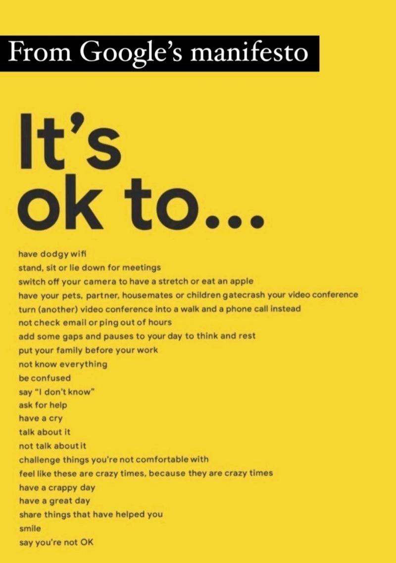 Google It's Ok Manifesto