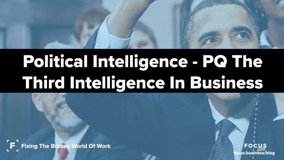 Political Intelligence - PQ the third intelligence in business