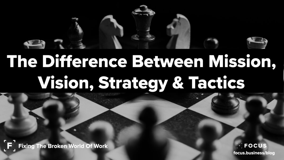 The Difference Between Mission, Vision, Strategy & Tactics