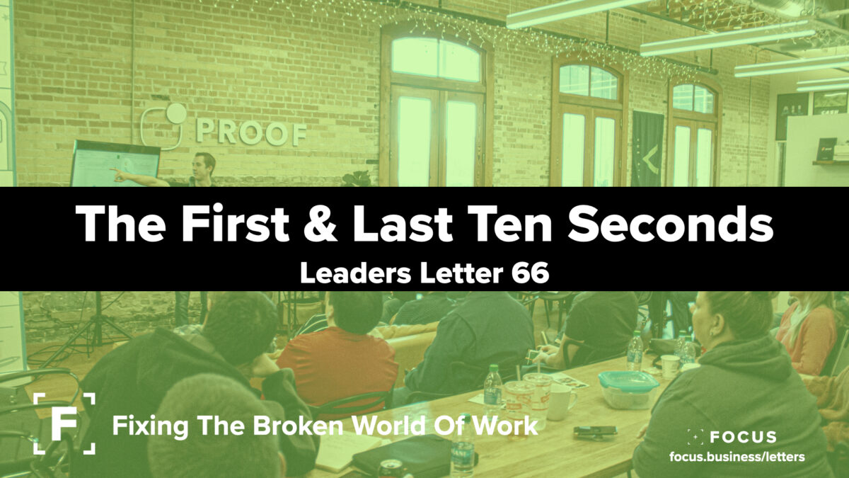The First & Last Ten Seconds- leaders letters