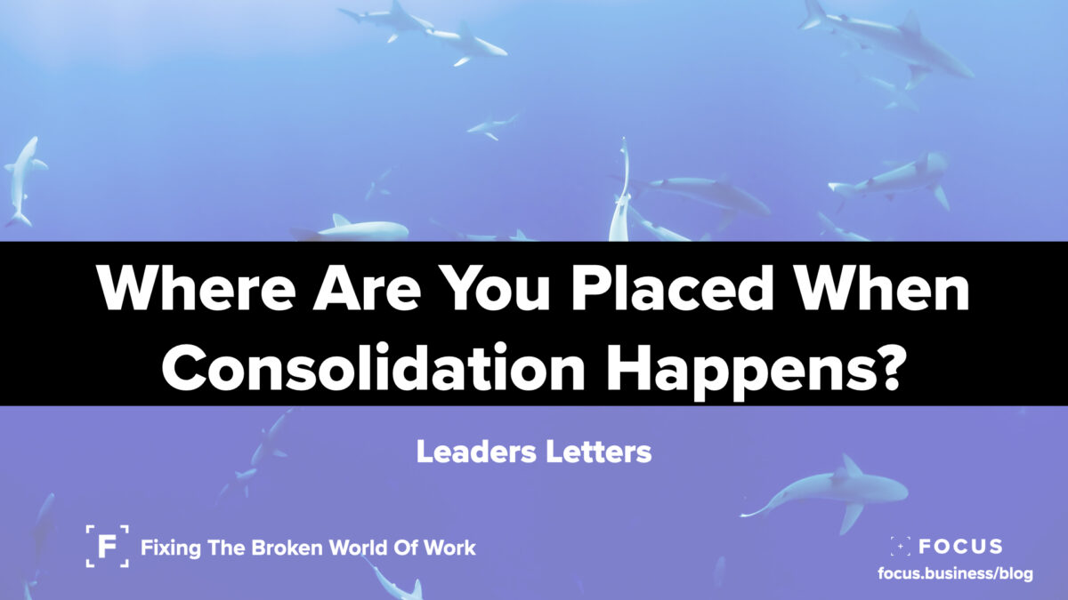 Where Are You Placed When Consolidation Happens? Leaders Letter